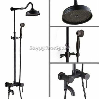 Oil Rubbed Bronze Bathroom Rainfall Shower Faucet Set Tub Mixer tap yrs644
