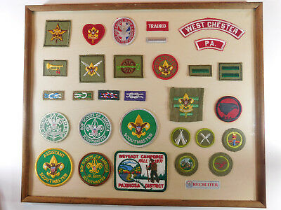 Boy Scout Scoutmaster Square Knot Eagle Scout Patch Merit Badge Collection Cased
