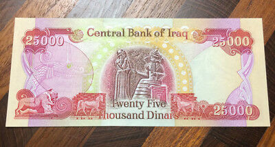 Brand new Uncirculated Iraq 25000 Dinar IQD note buy one or buy them all
