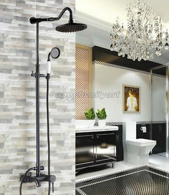 Oil Rubbed Brass Wall Mounted Bath Rain Shower Faucet Set Tub Mixer Tap yrs604