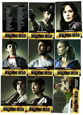 The Walking Dead Season 1 Trading 81 Card Set