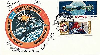 UNITED STATES - Signed Cover 1975 Apollo-Soyuz Test Project Signed by Crew