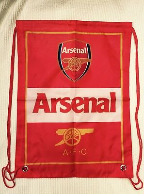 ARSENAL Training Bag Gym Sack Bag Swimming Drawstring Beach Backpack