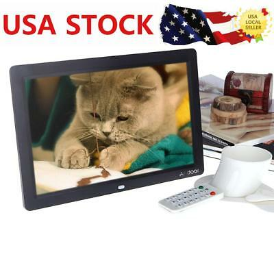 US STOCK 12'' LCD HD Digital Photo Picture Frame Clock Video Player+Contorl Q1M0