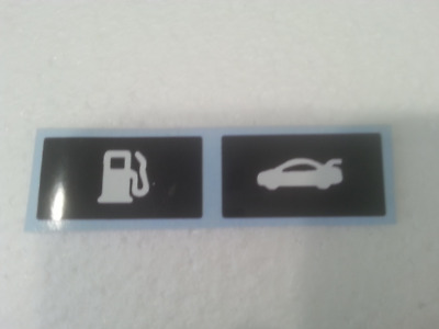 Ford ba-bf (some territory's) boot/fuel release button sticker