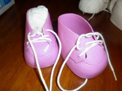 Cabbage Patch Kids - Pair of Pink Shoes with sox
