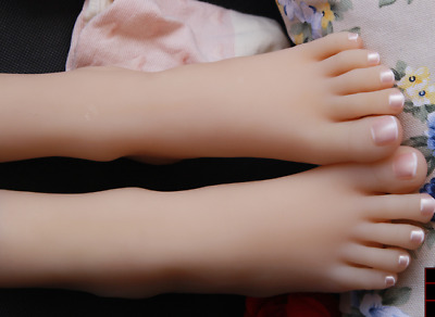 Top quality silicone cute girls clone feet mannequin display shoes/socks