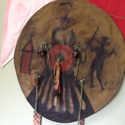 Original Indian Wars Penateka Comanche Native American War Shield ca. 1850s