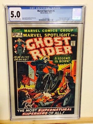 Marvel Spotlight #5 CGC 5.0 T/OW pages 1st App & Origin Ghost Rider