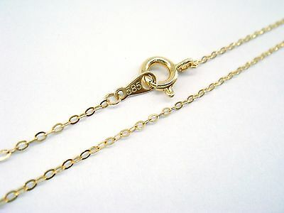 """14K Solid Gold Chain yellow 18"""" ,585 Link necklace Wholesaler Gift Free shipping"""