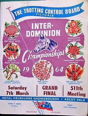 1964 Interdominion Championships Race Book:  FINAL NIGHT  (Melbourne)  MINUTEMAN