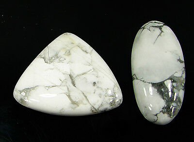 53.25 Ct Natural Howlite Cabochon Loose Gemstone Lot 2 Pcs New - H 6567
