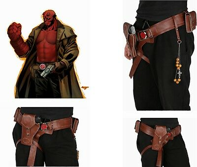 XCOSER Hellboy Belt With Drop Leg Gun Holster Cosplay Mens Costume Accessories
