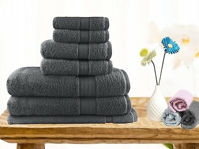 Premium Egyptian Cotton Bath Towels Bulk Towel Sets Face Hand 7/14pc Quick Dry