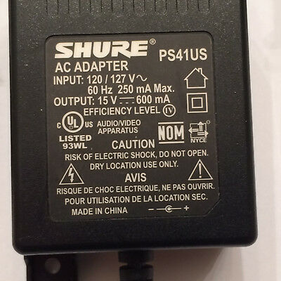 One Genuine Shure PS41US Power Supply  AC Adapter - NEW - FREE SHIPPING