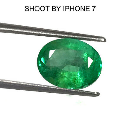 4.68 Cts Natural Top Rich Green Lovely Emerald Oval Cut Fine Untreated Colombia