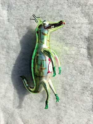 "Christopher Radko Crocodile from Peter Pan ""Time for a Bite"" Italian Ornament"