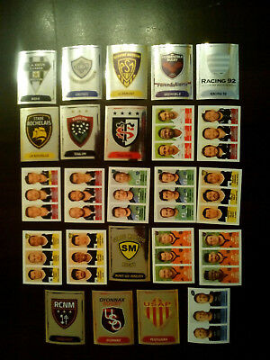 Lot 24 Stickers Images Panini Rugby  2016-2017 Ecussons Toulouse Toulon Castres