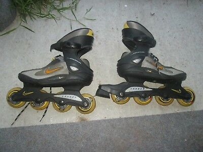 nike in line boot roller blades forflex size 6 uk