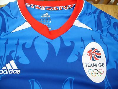 TEAM GB 2012 Olympics FOOTBALL SHIRT Brittania Climacool Adidas