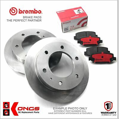 Front Brembo Brake Pads + Disc Rotors for TOYOTA HILUX 4WD KUN26 2005-11