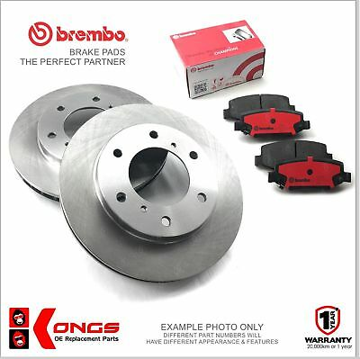 Front Brembo Brake Pads + Disc Rotors for TOYOTA HILUX 4WD LN106 RN105