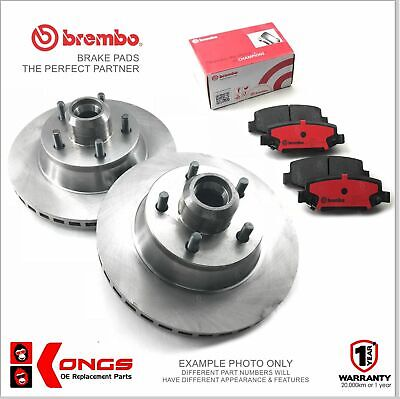 Front Brembo Brake Pads + Disc Rotors for FORD FALCON EF EL XH  NON-ABS