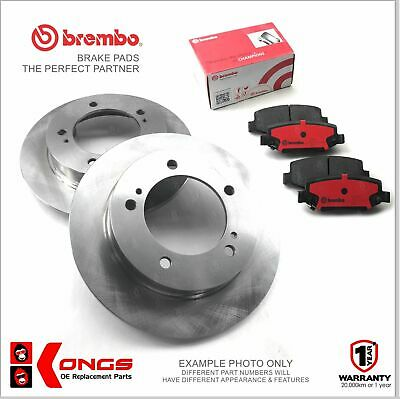 Rear Brembo Brake Pads + Disc Rotors for HOLDEN ASTRA LUCAS CALIPER