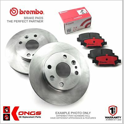 Front Brembo Brake Pads + Disc Rotors for HYUNDAI GETZ 1.3 09/02-ON