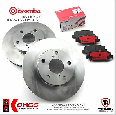 Front Brembo Brake Pads + Disc Rotors for MITSUBISHI VERADA KR KS W/O ABS