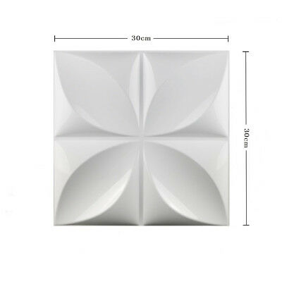 1/4/12pcs 3D Wall Panel TV Background Wallpaper White Home Shop Signboard Decor