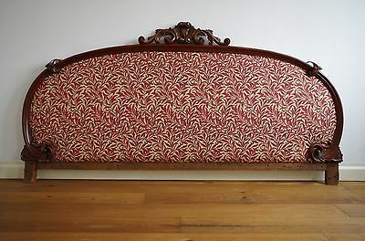 Stunning French Chateau find Headboard circa 1800s upholstered in William Morris