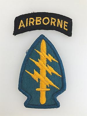 GENUINE America/American U.S. Army Vietnam War Special Forces cloth sleeve patch