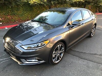 2017 Ford Fusion Titanium Sedan 4-Door 2017 FORD FUSION TITANIUM, ONLY 3K MI, LEATHER, NAVIGATION, HEATED/COOLED SEATS!