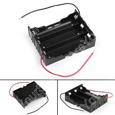 3 Cell 18650 Series Battery Holder Storage Case With Wire Leads 11.1V B4