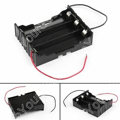 3 Cell 18650 Parallel Battery Holder Case For 3.7V Battery With Leads B4