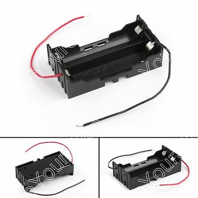 2 Cell 18650 Parallel Battery Holder Case For 3.7V Battery With Leads B4