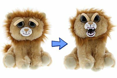 Feisty Pets Stuffed Animal Plush Toy Scary Cute Prank Marky Mischief Lion Squeez