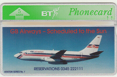 BT General 359 Aircraft Boeing 737 of GB Airways, Mint Phonecard