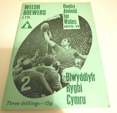 Rugby Annual for Wales 1970-71 Welsh Brewers Rugby - Good Condition