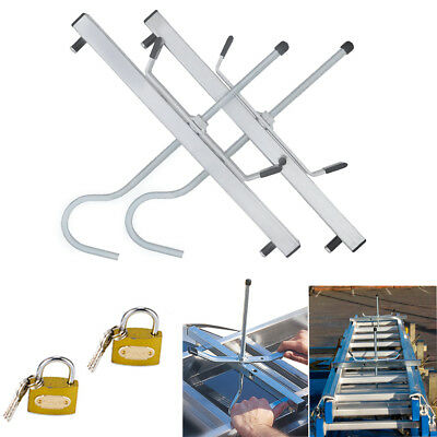 Heavy duty Universal Ladder Roof Rack Clamp Clamps Lockable Free Locks Ladders