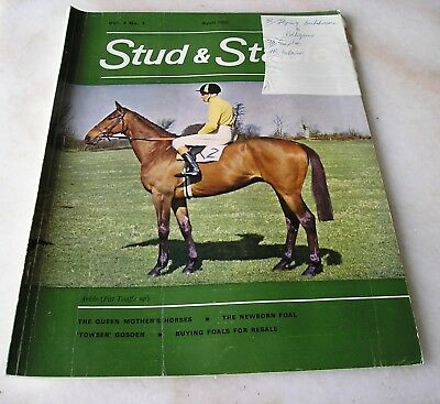 STUD AND STABLE MAGAZINE VOL. 4 No. 4 March 1965 Cover ARKLE