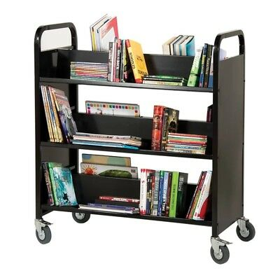 Double-Sided Book Cart (Black)