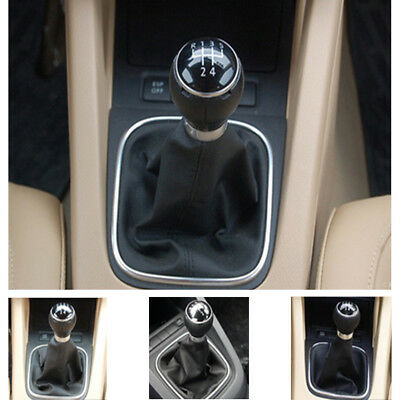 Auto Car 5 Speed Gear Stick Shift Knob Gaiter Boot For VW Golf 6 MK5 MK6 Jetta
