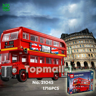 21045 London Bus Double Decker 10258 Creator Expert Building Toy Block Xmas Gift