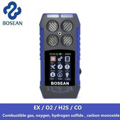 4 in 1 EX CO O2 H2S Oxygen Detector Combustible Gas Analyzer Alert Meter Tester