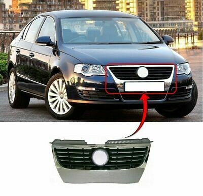 Vw Passat B6 3C 2005-2010 Front Top Radiator Grille Chrome Frame & Black Trims