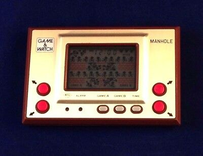 Nintendo Game & Watch Gold Series - Manhole MH-06 Small Screen 1981 Vintage