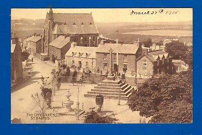 Photochrom Postcard The City Green St. David's Pembs Posted 27/3/1917
