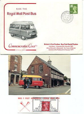 1977 Llanidloes - Llangurig Royal Mail Post Bus 10th anniversary Cotswold cover